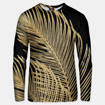 Miniaturka Palm Leaves Finesse Line Art with Gold Foil #1 #minimal #decor #art  Unisex sweatshirt, Live Heroes