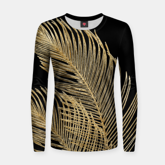 Miniaturka Palm Leaves Finesse Line Art with Gold Foil #1 #minimal #decor #art  Frauen sweatshirt, Live Heroes
