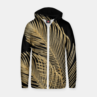 Miniaturka Palm Leaves Finesse Line Art with Gold Foil #1 #minimal #decor #art  Reißverschluss kapuzenpullover, Live Heroes