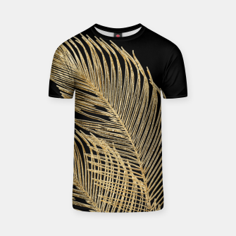 Miniaturka Palm Leaves Finesse Line Art with Gold Foil #1 #minimal #decor #art  T-Shirt, Live Heroes