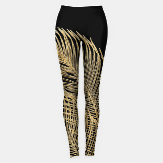 Miniaturka Palm Leaves Finesse Line Art with Gold Foil #1 #minimal #decor #art  Leggings, Live Heroes