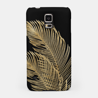 Miniaturka Palm Leaves Finesse Line Art with Gold Foil #1 #minimal #decor #art  Handyhülle für Samsung, Live Heroes