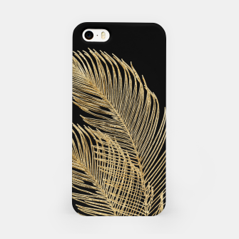 Miniatur Palm Leaves Finesse Line Art with Gold Foil #1 #minimal #decor #art  iPhone-Hülle, Live Heroes