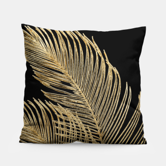 Miniaturka Palm Leaves Finesse Line Art with Gold Foil #1 #minimal #decor #art  Kissen, Live Heroes
