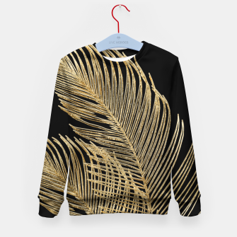 Miniaturka Palm Leaves Finesse Line Art with Gold Foil #1 #minimal #decor #art  Kindersweatshirt, Live Heroes