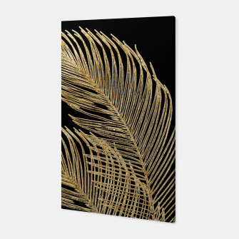 Miniaturka Palm Leaves Finesse Line Art with Gold Foil #1 #minimal #decor #art  Canvas, Live Heroes