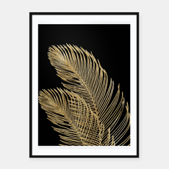 Miniaturka Palm Leaves Finesse Line Art with Gold Foil #1 #minimal #decor #art  Plakat mit rahmen, Live Heroes