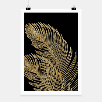 Miniaturka Palm Leaves Finesse Line Art with Gold Foil #1 #minimal #decor #art  Plakat, Live Heroes