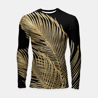 Miniaturka Palm Leaves Finesse Line Art with Gold Foil #1 #minimal #decor #art  Longsleeve rashguard, Live Heroes