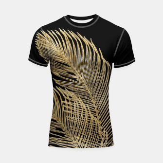 Miniaturka Palm Leaves Finesse Line Art with Gold Foil #1 #minimal #decor #art  Shortsleeve rashguard, Live Heroes