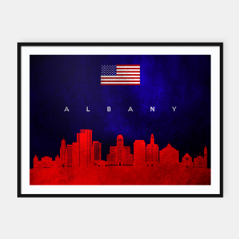 Thumbnail image of Albany New York Skyline Framed poster, Live Heroes