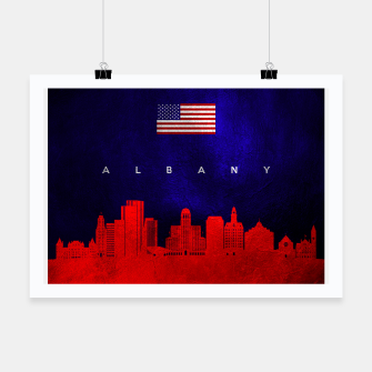 Thumbnail image of Albany New York Skyline Poster, Live Heroes