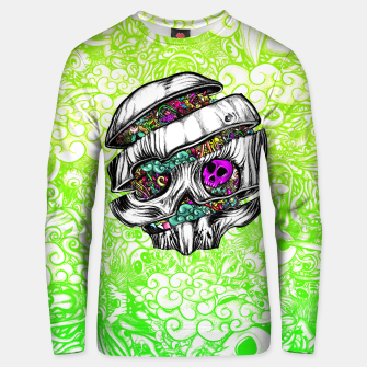Miniaturka Sliced Skull with doodles Unisex sweater, Live Heroes
