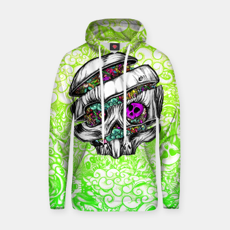 Thumbnail image of Sliced Skull with doodles Hoodie, Live Heroes