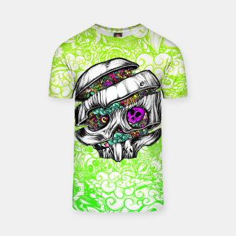 Thumbnail image of Sliced Skull with doodles T-shirt, Live Heroes