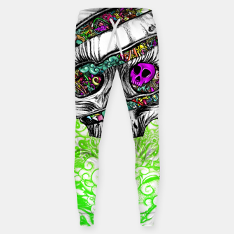 Thumbnail image of Sliced Skull with doodles Sweatpants, Live Heroes