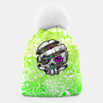 Thumbnail image of Sliced Skull with doodles Beanie, Live Heroes