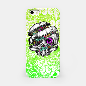 Thumbnail image of Sliced Skull with doodles iPhone Case, Live Heroes