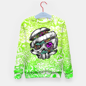 Thumbnail image of Sliced Skull with doodles Kid's sweater, Live Heroes