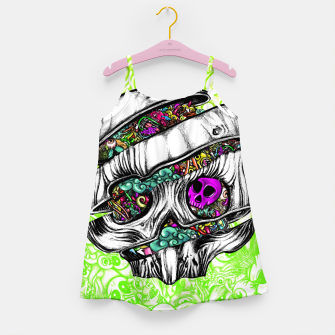 Thumbnail image of Sliced Skull with doodles Girl's dress, Live Heroes