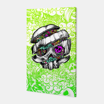 Thumbnail image of Sliced Skull with doodles Canvas, Live Heroes