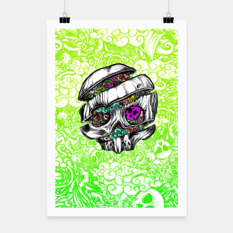 Thumbnail image of Sliced Skull with doodles Poster, Live Heroes