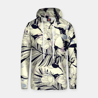 Thumbnail image of Navy Flowers on Watercolor Dots Hoodie, Live Heroes