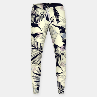 Thumbnail image of Navy Flowers on Watercolor Dots Sweatpants, Live Heroes