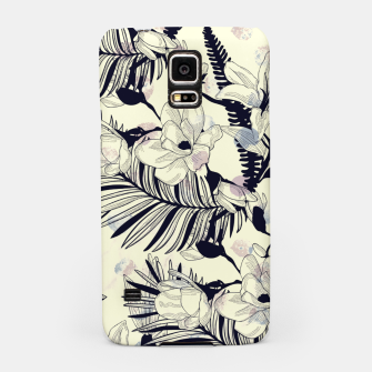 Miniatur Navy Flowers on Watercolor Dots Samsung Case, Live Heroes