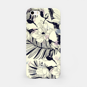 Miniatur Navy Flowers on Watercolor Dots iPhone Case, Live Heroes