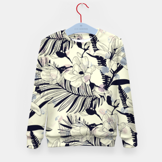 Thumbnail image of Navy Flowers on Watercolor Dots Kid's sweater, Live Heroes