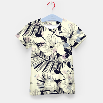 Thumbnail image of Navy Flowers on Watercolor Dots Kid's t-shirt, Live Heroes