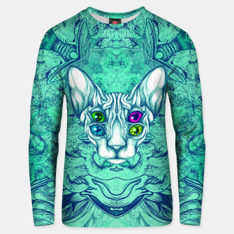 Thumbnail image of Blue Sphynx Eyes Unisex sweater, Live Heroes