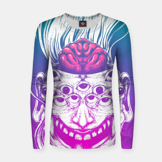 Miniatur Mutant Brain  Women sweater, Live Heroes