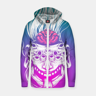 Miniatur Mutant Brain  Zip up hoodie, Live Heroes