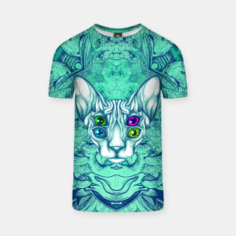 Thumbnail image of Blue Sphynx Eyes T-shirt, Live Heroes