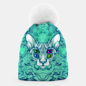 Thumbnail image of Blue Sphynx Eyes Beanie, Live Heroes