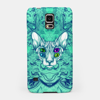 Thumbnail image of Blue Sphynx Eyes Samsung Case, Live Heroes