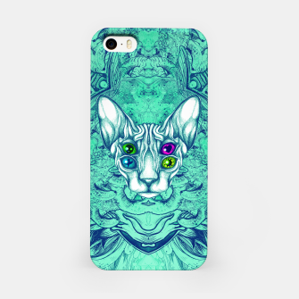 Thumbnail image of Blue Sphynx Eyes iPhone Case, Live Heroes