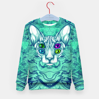 Thumbnail image of Blue Sphynx Eyes Kid's sweater, Live Heroes