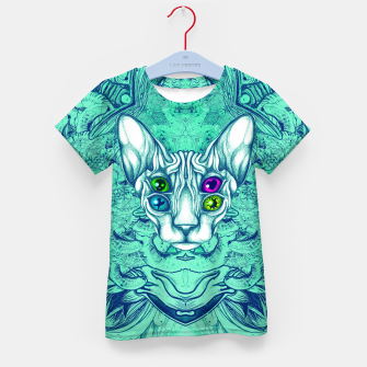 Thumbnail image of Blue Sphynx Eyes Kid's t-shirt, Live Heroes