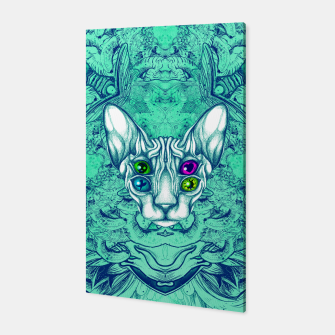 Thumbnail image of Blue Sphynx Eyes Canvas, Live Heroes