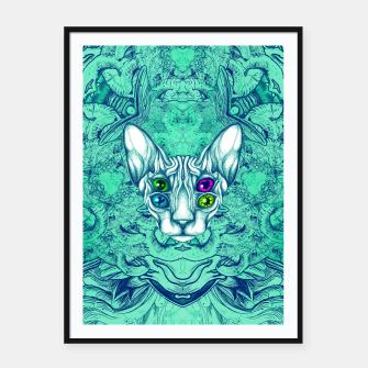Thumbnail image of Blue Sphynx Eyes Framed poster, Live Heroes