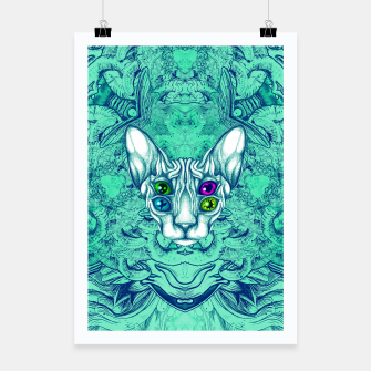 Thumbnail image of Blue Sphynx Eyes Poster, Live Heroes