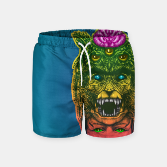 Miniatur  WolfGirl Second gradient Swim Shorts, Live Heroes