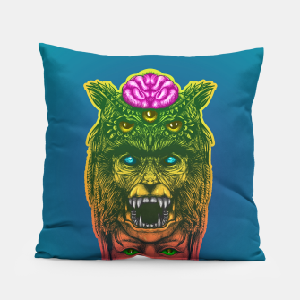 Miniatur  WolfGirl Second gradient Pillow, Live Heroes