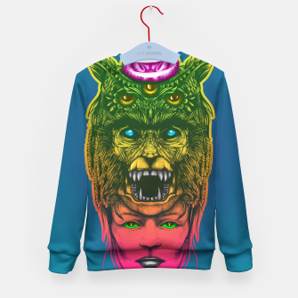 Miniatur  WolfGirl Second gradient Kid's sweater, Live Heroes