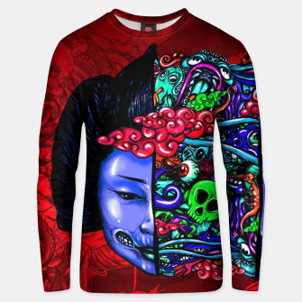 Thumbnail image of Split Head Geisha Doodle Strong Unisex sweater, Live Heroes