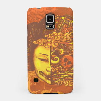 Thumbnail image of Split Head Geisha Doodle Flat Samsung Case, Live Heroes