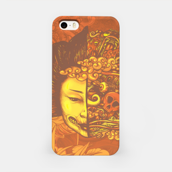 Thumbnail image of Split Head Geisha Doodle Flat iPhone Case, Live Heroes